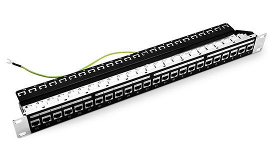 24 Ports Shielded Cat6 Patch Panel