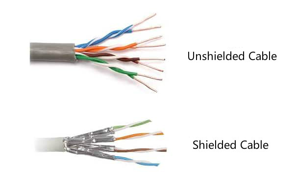 Shielded cable and unshielded cable