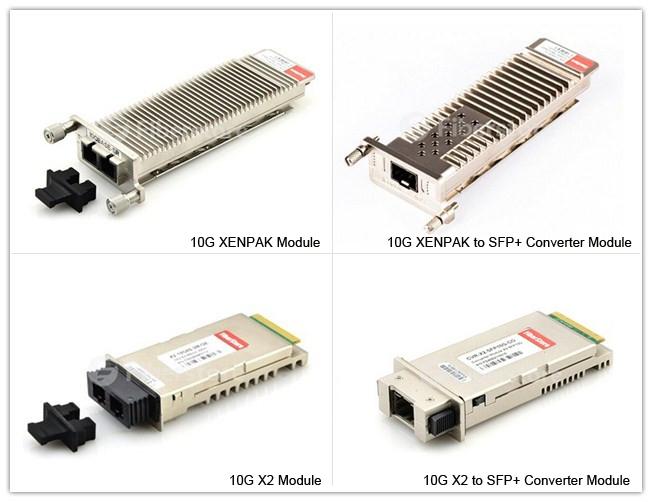 X2 to SFP+ converter module vs X2; XENPAK to SFP+ converter module vs XENPAK