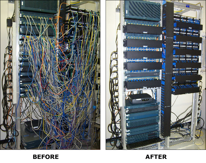 before vs. after cabling